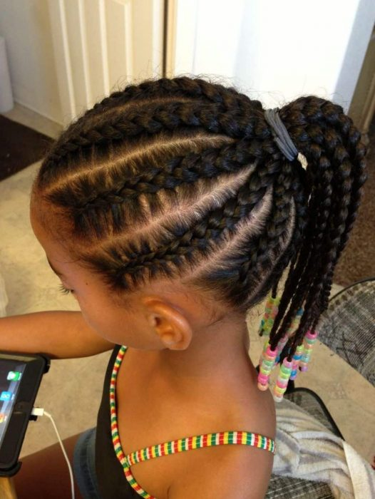 Pulled-Back Cutest Braided Hairstyles for Little Girls Right Now