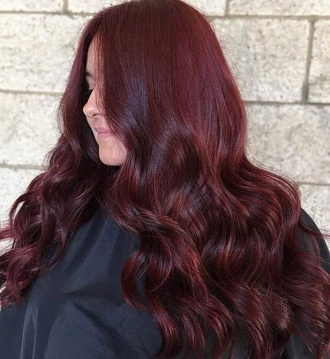 Red-Wine-Ombre Enthralling Long and Straight Hair Ombre for Women