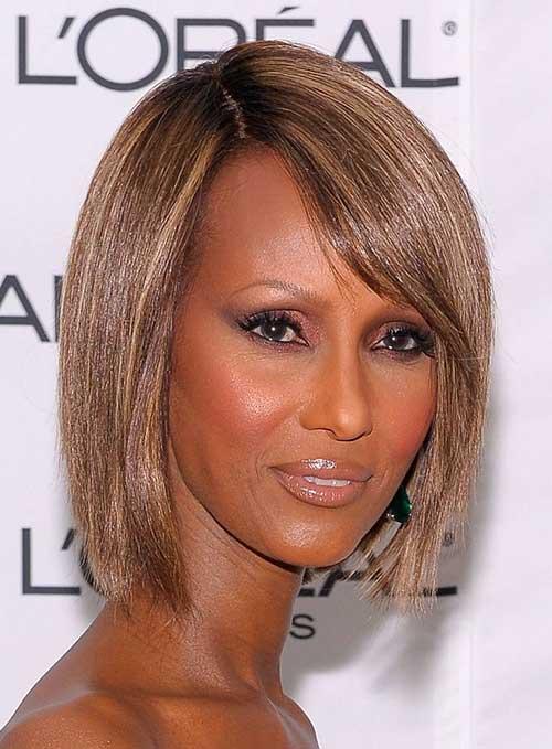Short-Chunky-Layered-Hairdo Nice Short Bobs for Black Women