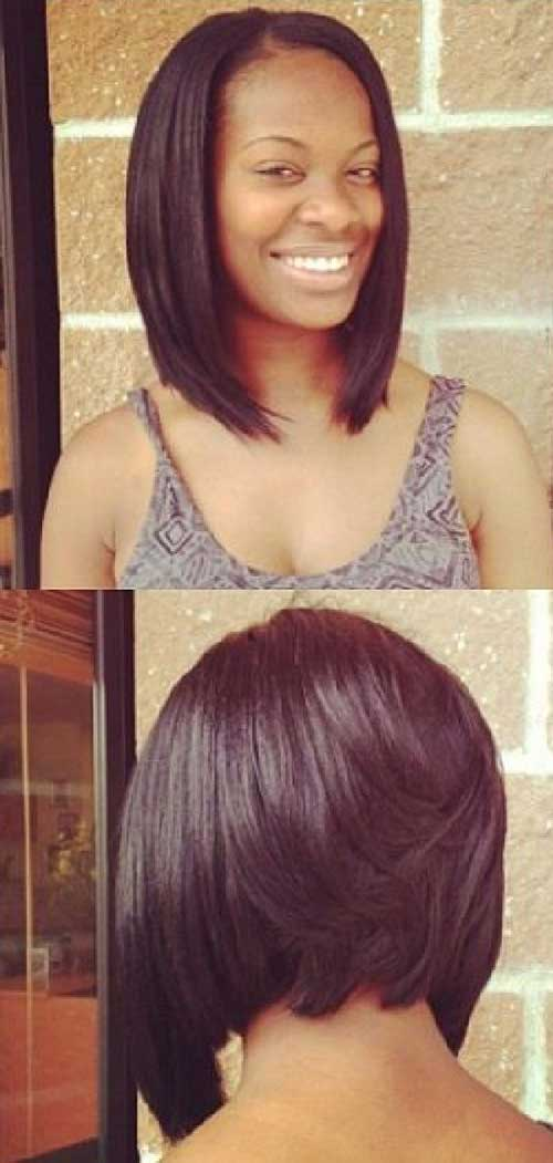 Short-Layered-Inverted-Bob-Haircut-For-Black-Women Nice Short Bobs for Black Women