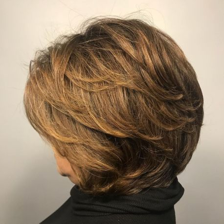 Shorter-Cut-with-Feathered-Layers Hairstyles for Women Over 60