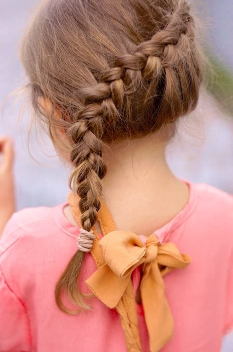 Side-French-Braid Cutest Braided Hairstyles for Little Girls Right Now