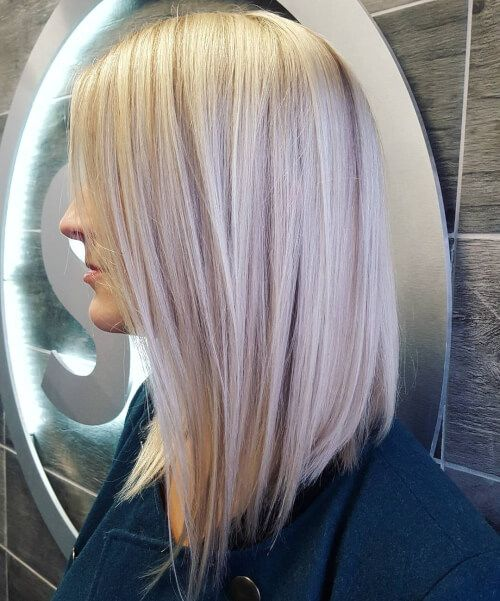 Silver-Hair-Bob-Cut Most Hottest and Sexiest Long Bob Haircuts
