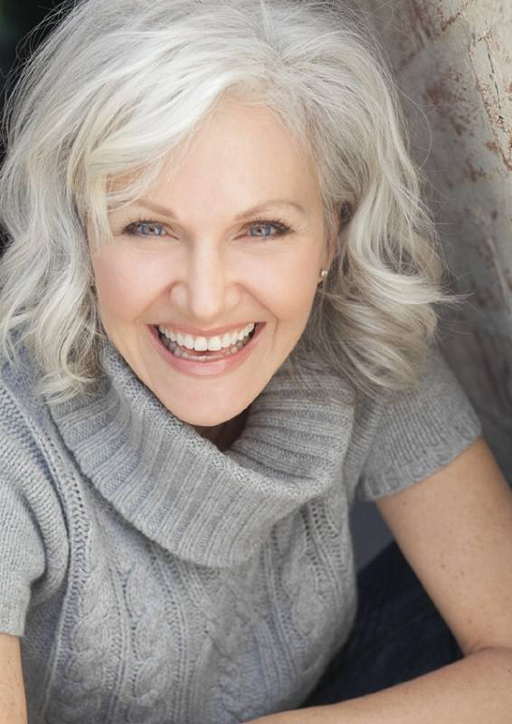 Silver-White-Hair-with-Waves Loveliest Medium Length Hairstyles for Older Women