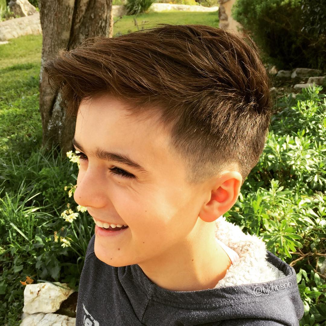Simple-Side-Fade-with-Muddled-Undercut Cute Haircuts for Boys for Charming Look