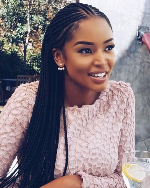 Simple-Style 14 Amazing Fulani Braids for Black Women