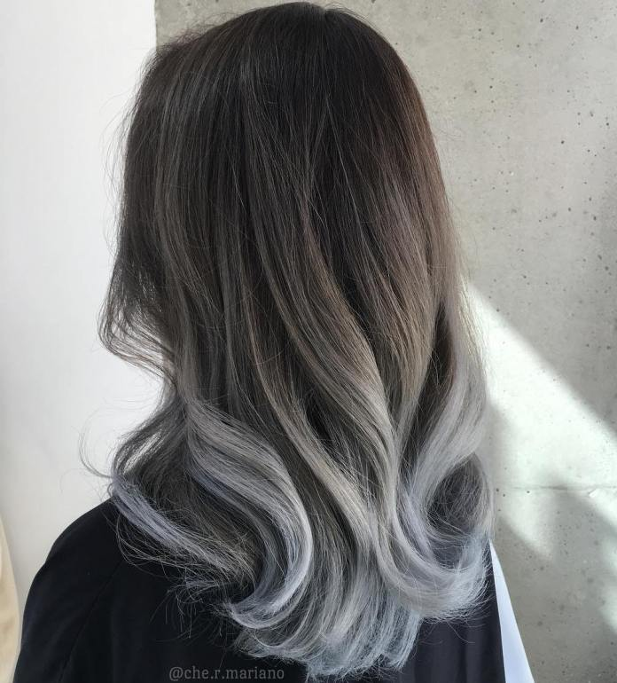 Smoke-and-Silver-Ombre 14 Best Ombre Hair Color Ideas for all hair color