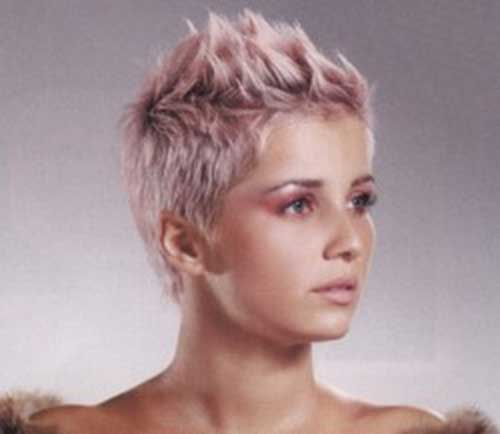 Spiky-Pixie-Hairstyle-with-Blonde-Pink-Color Short Blonde And Pink Hairstyles