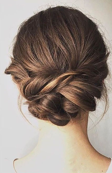 Straight-Hair-Updo 15 Super Chic Updo Ideas for Short Hair