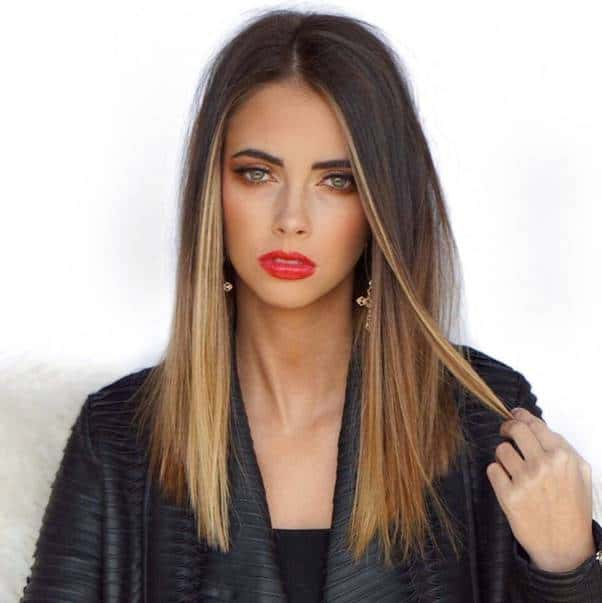 Straight-Ombre-Hair Bewitching Brunette Ombre Hair Ideas (2020 Guide)