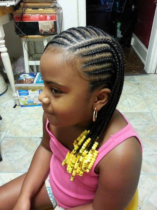 Sunshine-Yellow-Beads Cutest Braided Hairstyles for Little Girls Right Now