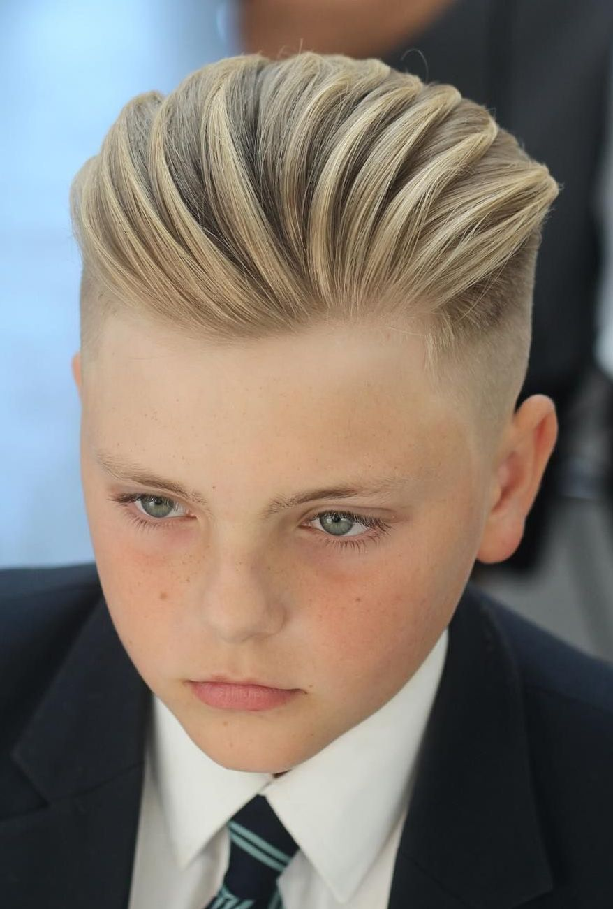 Textured-Quiff Cute Haircuts for Boys for Charming Look