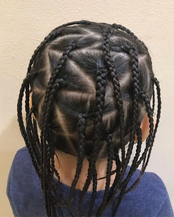 Triangle-Braids- Cutest Braided Hairstyles for Little Girls Right Now