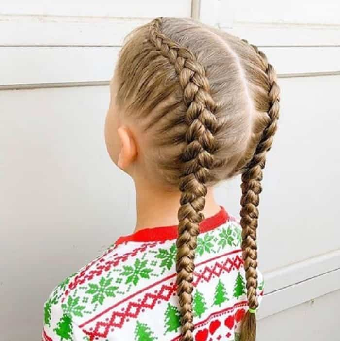Two-Braids- Cutest Braided Hairstyles for Little Girls Right Now