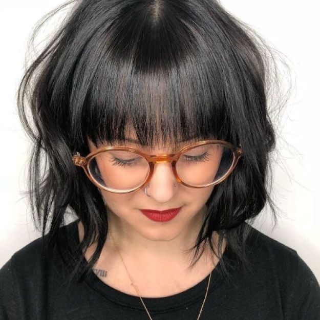 Wavy-Bob-with-Bangs 13 On-trend Bobs and their variations in 2020