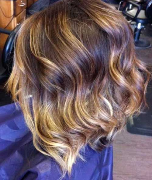 Wavy-ombre Captivating Inverted Bob Hairstyles That Can Keep You Out of Trouble