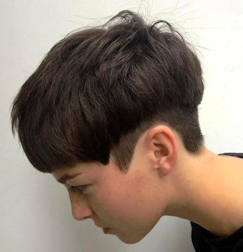 Around-the-Edges 12 Trendiest Short Brown Hairstyles and Haircuts