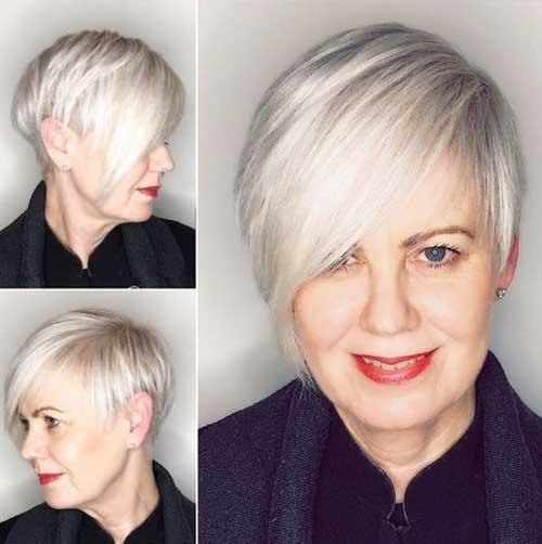 Asymmetric-Crop-Hair Amazing Short Haircuts for Older Women