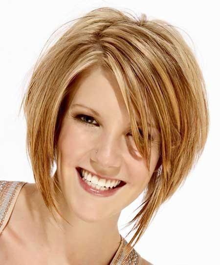 Asymmetric-Layered-Bob-for-Cute-Look Gorgeous Layered Cut Bob Hairstyles
