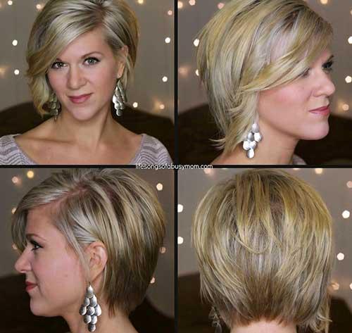Asymmetrical-Casual-Blonde-Bob Asymmetric Bob Hairstyles 2020