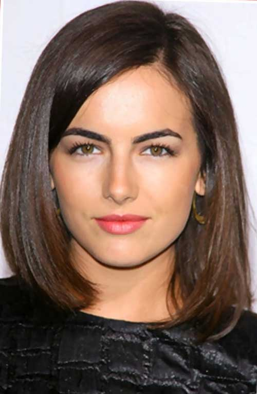 Auburn-Collarbone-Length-Straight-Hair 15 Ultimate Straight Long Bob Hairstyles