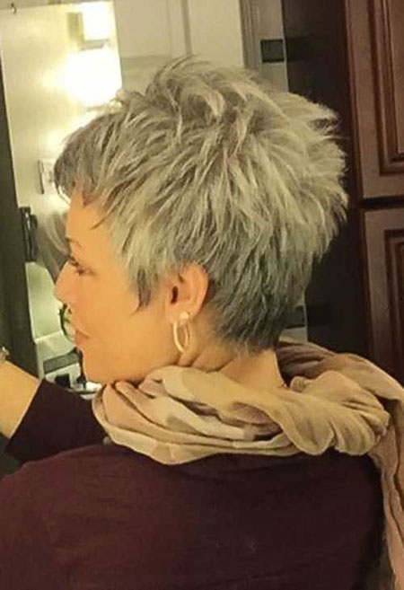 Back-View 19 Great Pixie Haircuts for Older Women