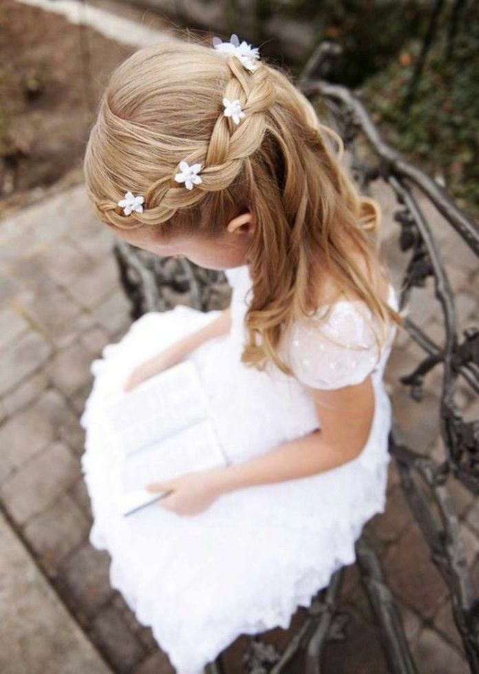 Basket-Hairstyle Most Cutest Flower Girl Hairstyles