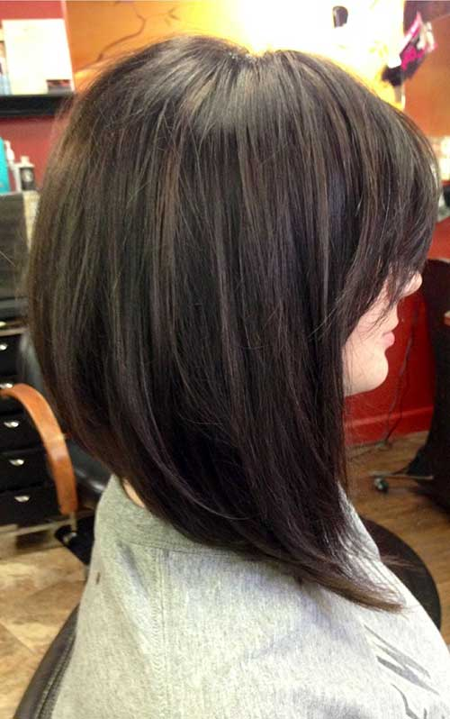 Best-Angled-Long-Bob-Haircut-for-Thick-Hair Best Ways to Sport Bob Hairstyles with Thick Hair