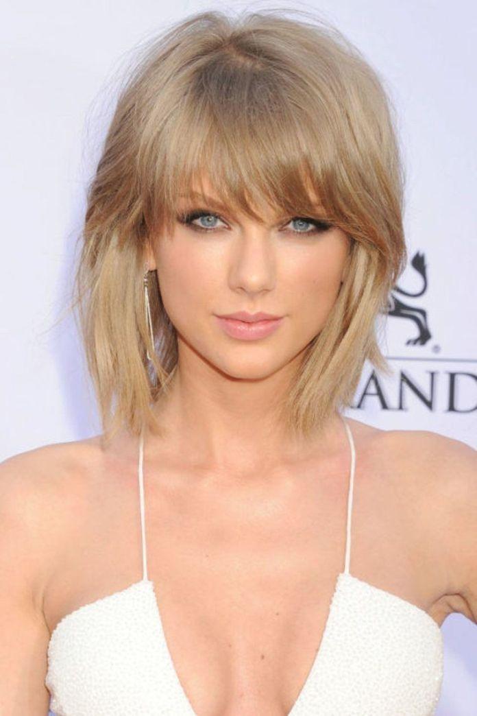 Blonde-Bangs-Meet-The-Lob Lob Haircuts 2020 for Ultra Glamorous Looks