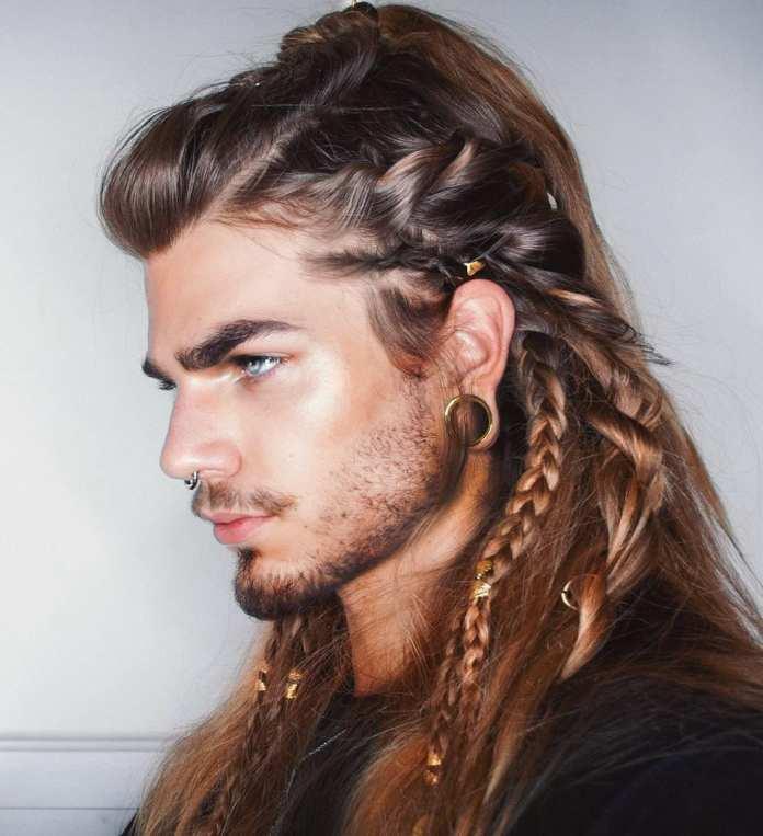Braided-Designs-on-Long-Hair Dashing and Dapper Braids for Boys