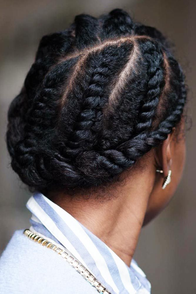 Braided-and-Tied-up-Hair Braids Hairstyles 2020 for Ultra Stylish Looks