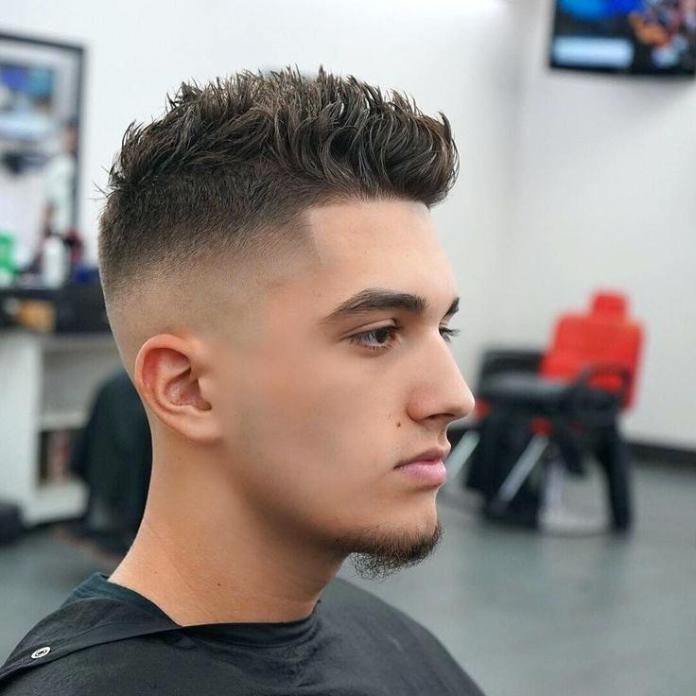 Brush-Over-with-Tapered-Sides Most Trendy Looks of Short Fade Haircuts