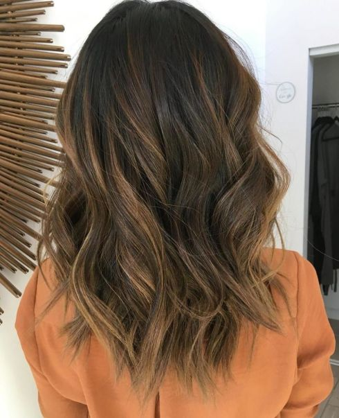Chocolate-Brown-with-Caramel-Highlights Balayage and Everything About This Trendy Hair Color