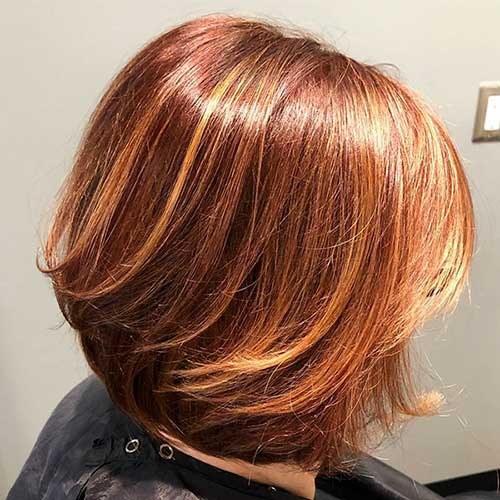 Copper-Bob-Style Super Short Haircuts for Women