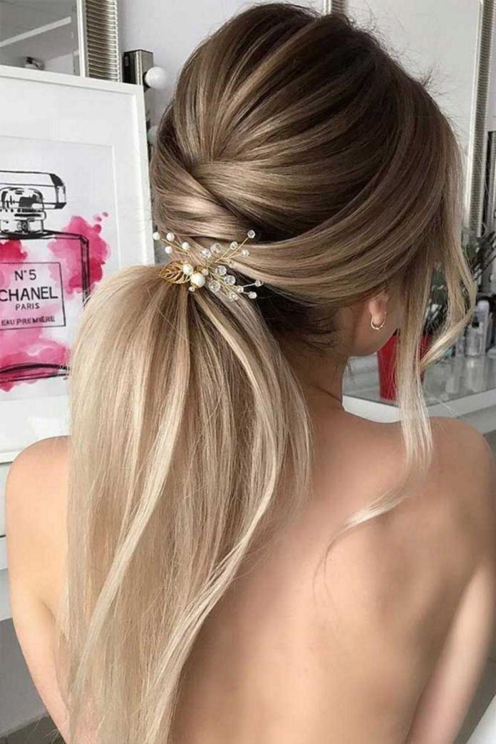 Criss-Cross-Pony-Hairstyle Ultra Modern Wedding Hairstyles 2020
