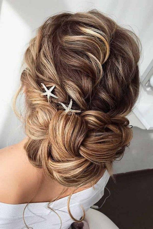 Croissant-Braid-Bun-Hairstyle Ultra Modern Wedding Hairstyles 2020