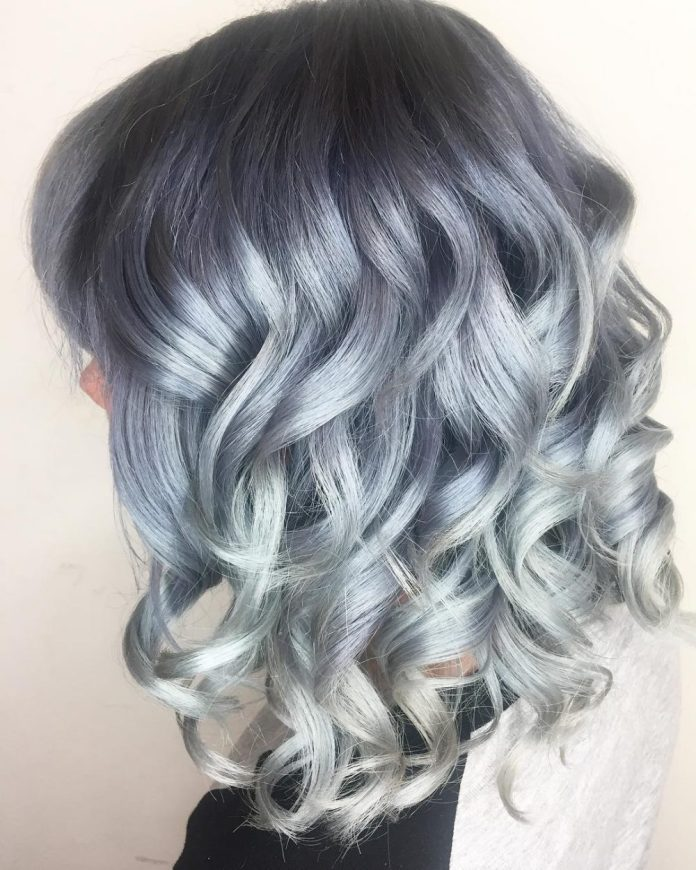 Curly-Pink-Blonde-Hair Most Coolest Medium Hairstyles with Color
