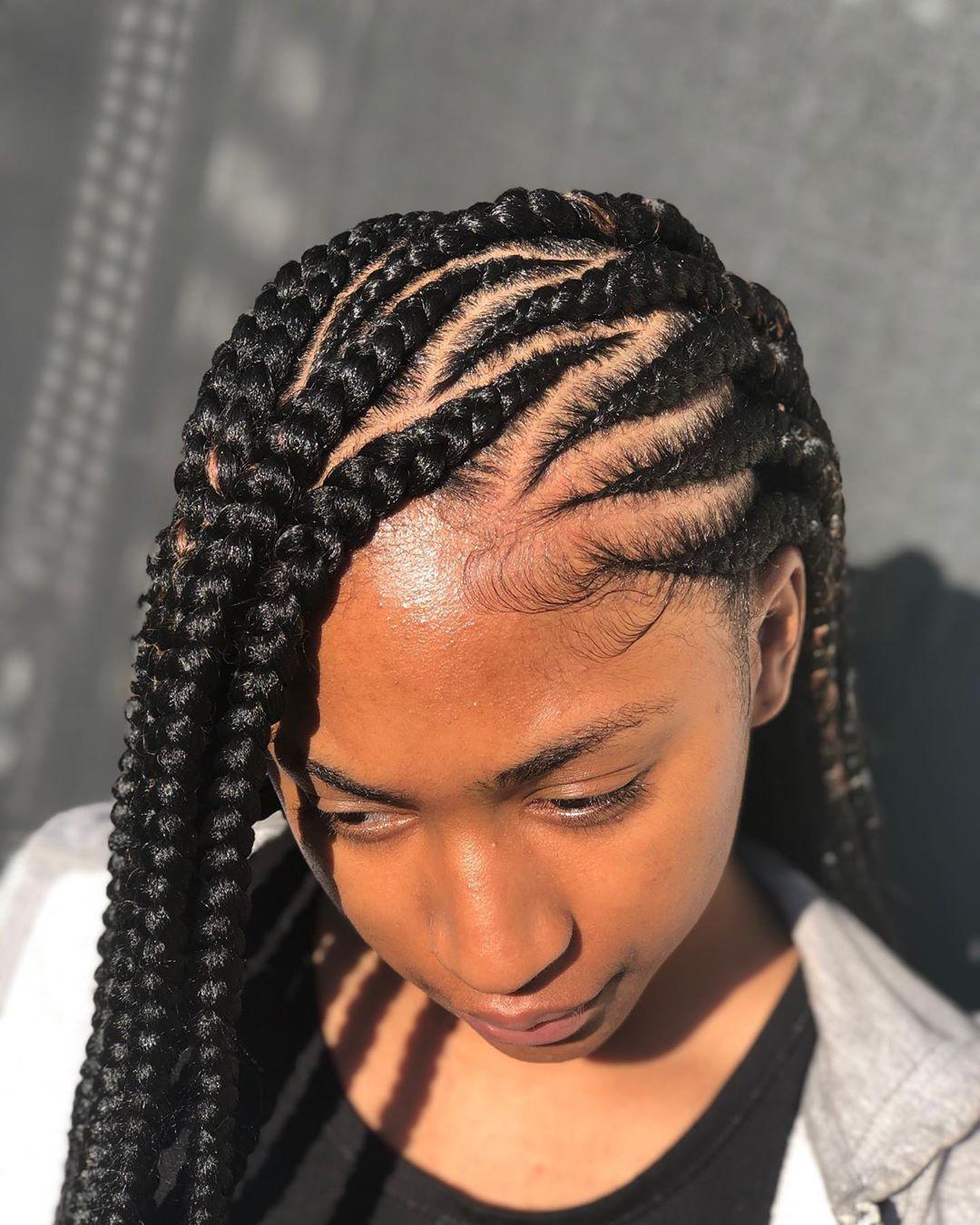 Curvy-Cornrow-Braids Braids Hairstyles 2020 for Ultra Stylish Looks