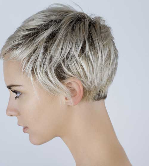 Dark-roots-and-gray-hair-color Beautiful Short Haircuts for Older Women