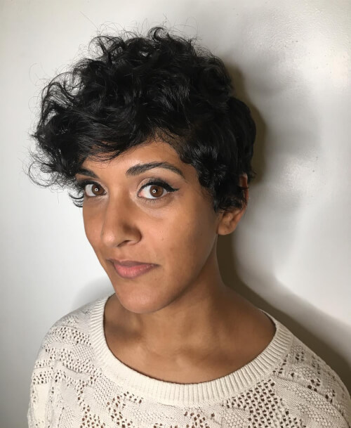 Disconnected-Short-Curly-Pixie. 14 flattering and eye-catching hairstyles for short curly hair