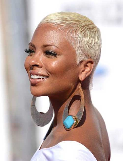 Excellent-Blonde-Short-Haircut-For-African-American-Women Naturally Short Hairstyles for Beautiful Black Women