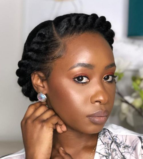 Headband-Flat-Twist-Updo 14 eye-catching protective hairstyles for black women