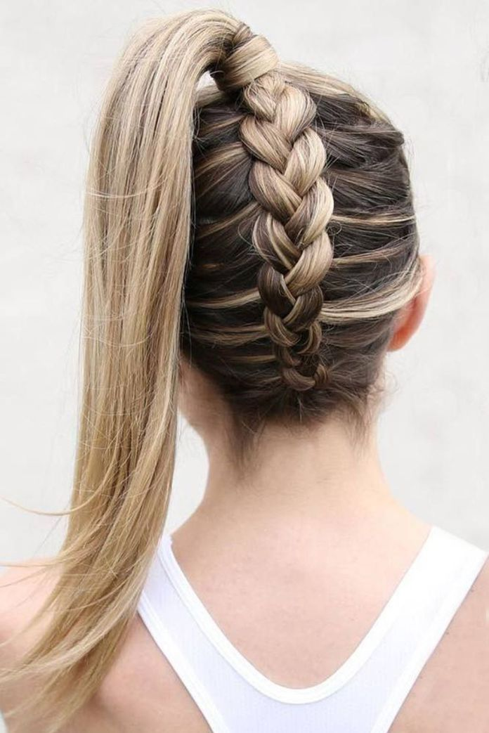 Inverted-Braided-Ponytail Braids Hairstyles 2020 for Ultra Stylish Looks