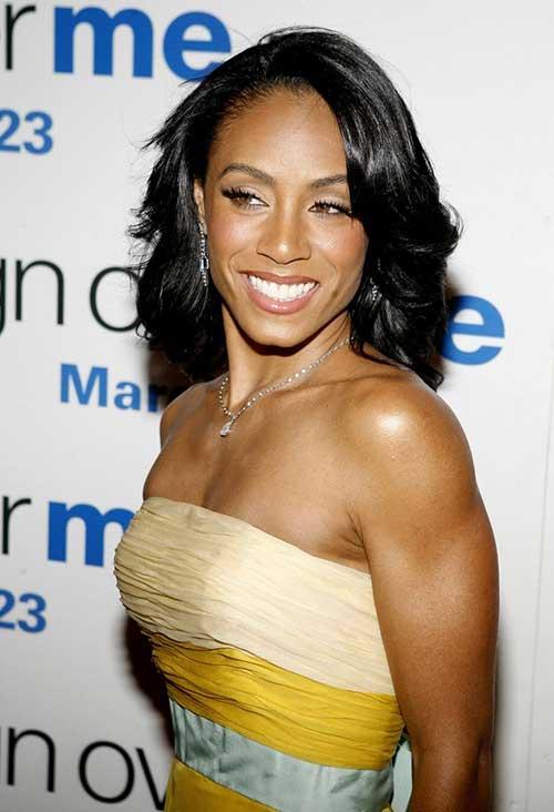 Jada-Pinkett-Smith's-Short-Natural-Bob-Haircut Naturally Short Hairstyles for Beautiful Black Women