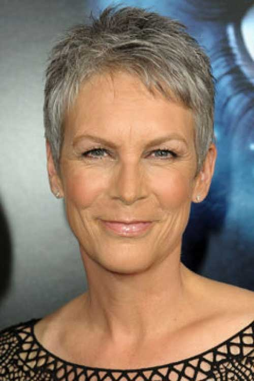 Jamie-Lee-Curtis-Short-Hairstyle 20 Awesome Short Haircuts for Older Women