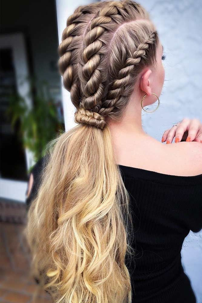 Large-Braids-and-Ponytail Braids Hairstyles 2020 for Ultra Stylish Looks