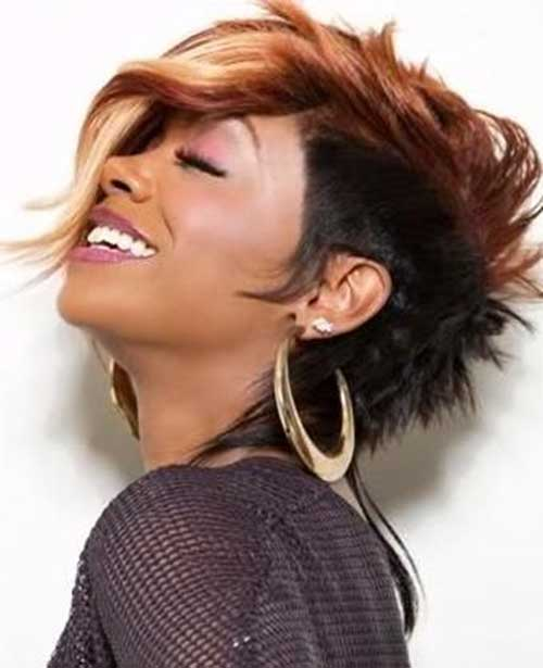 Latest-Mohawk-Hairstyle-for-Black-Women-with-Long-Bangs Naturally Short Hairstyles for Beautiful Black Women