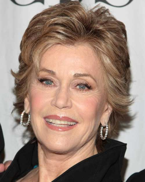 Layered-short-hairstyles Beautiful Short Haircuts for Older Women