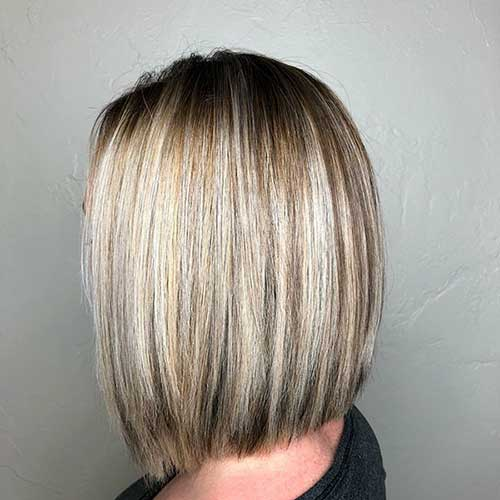 Long-Blonde-Bob-Cut Super Short Haircuts for Women