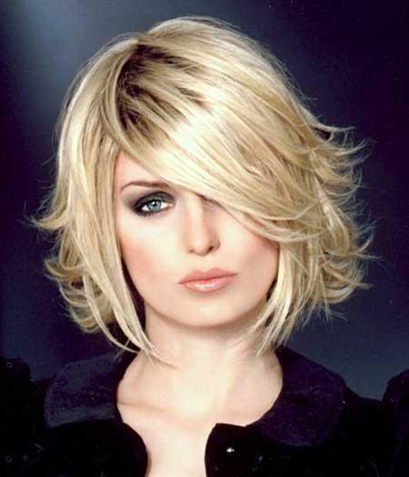 Messy-Voluminous-Blonde-Bob Gorgeous Layered Cut Bob Hairstyles
